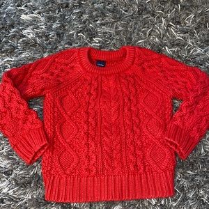 Toddler red sweater